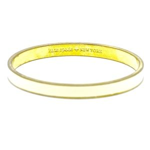 KATE SPADE~white enamel~GOLD BANGLE BRACELET